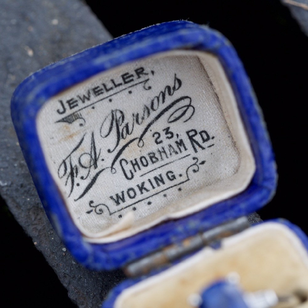 F. A. Parsons Jeweller, 23 Chobham Rd. Woking Ring Box