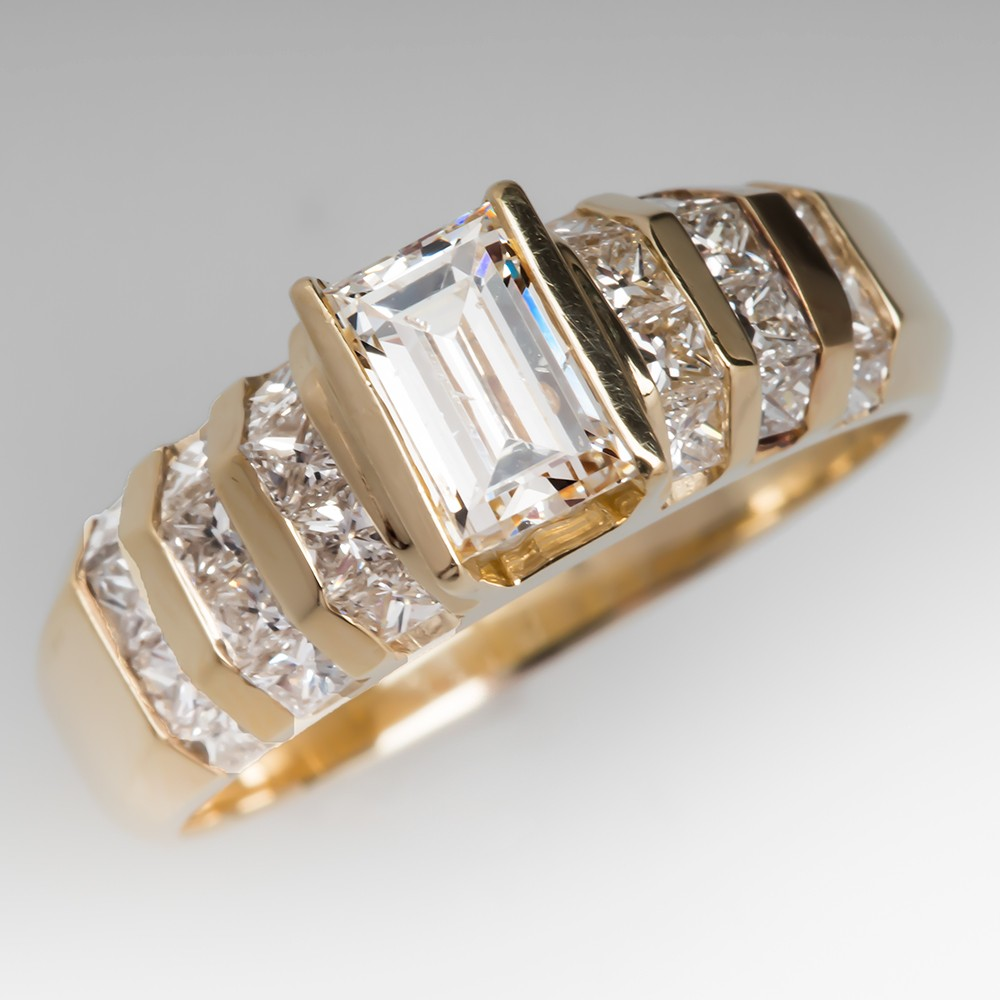will remarkable with is diamond engagement pave this breathless rectangular its unique cushion gia rectangle pin ct cut ring design centerpiece a you leave natural