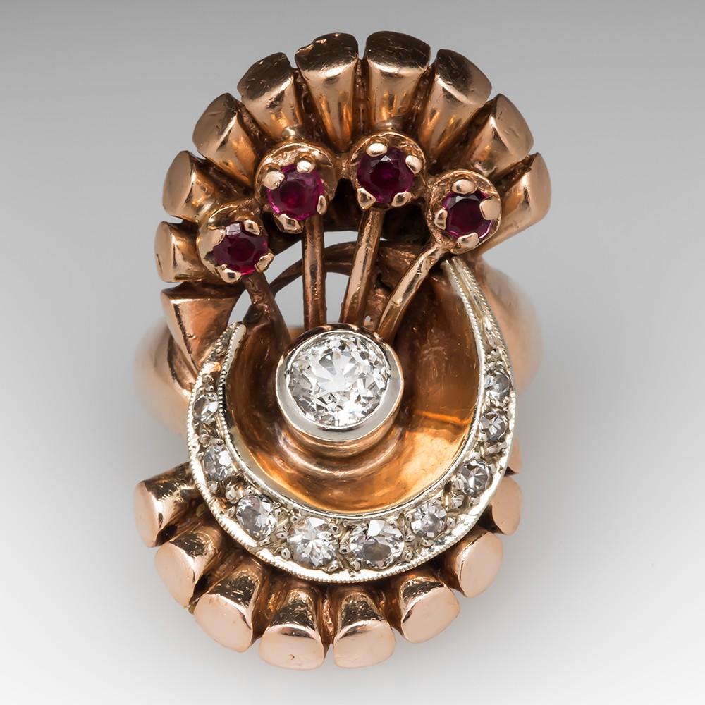 Rose Gold Cocktail Ring