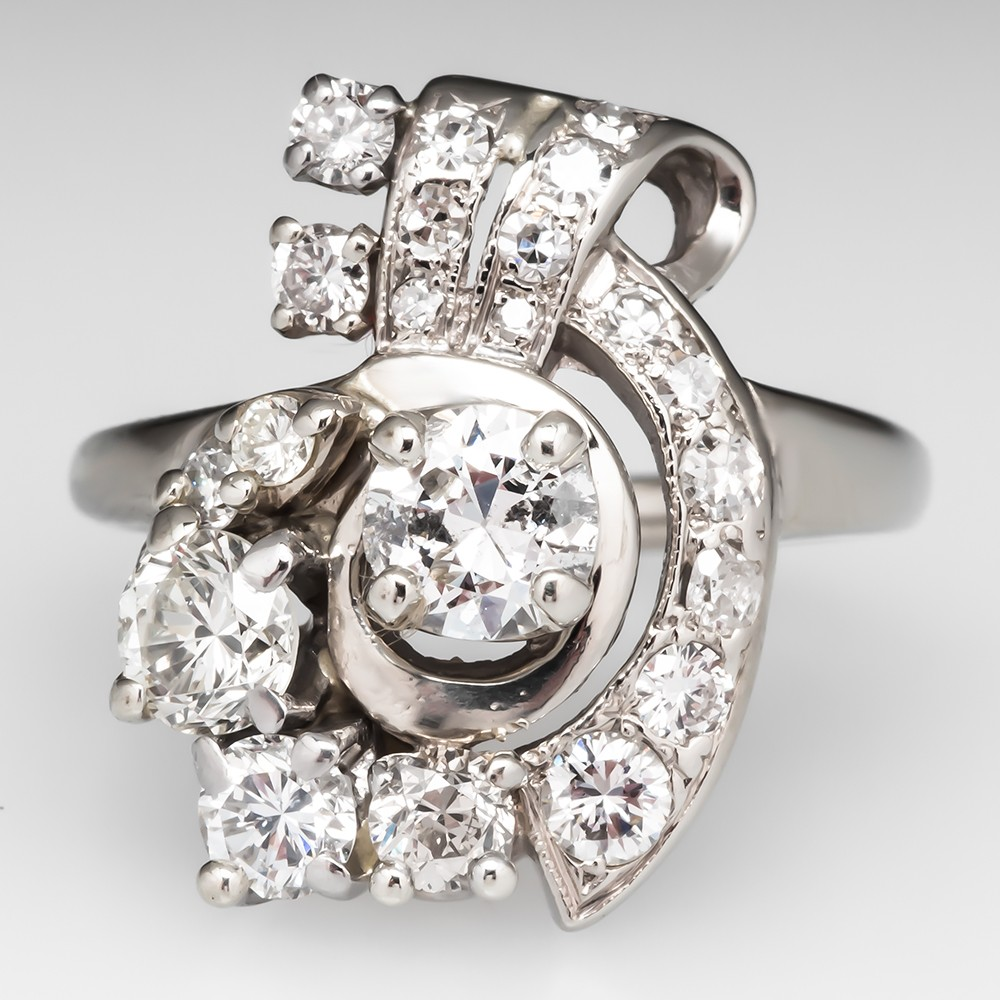 Retro Vintage Diamond Spray Ring