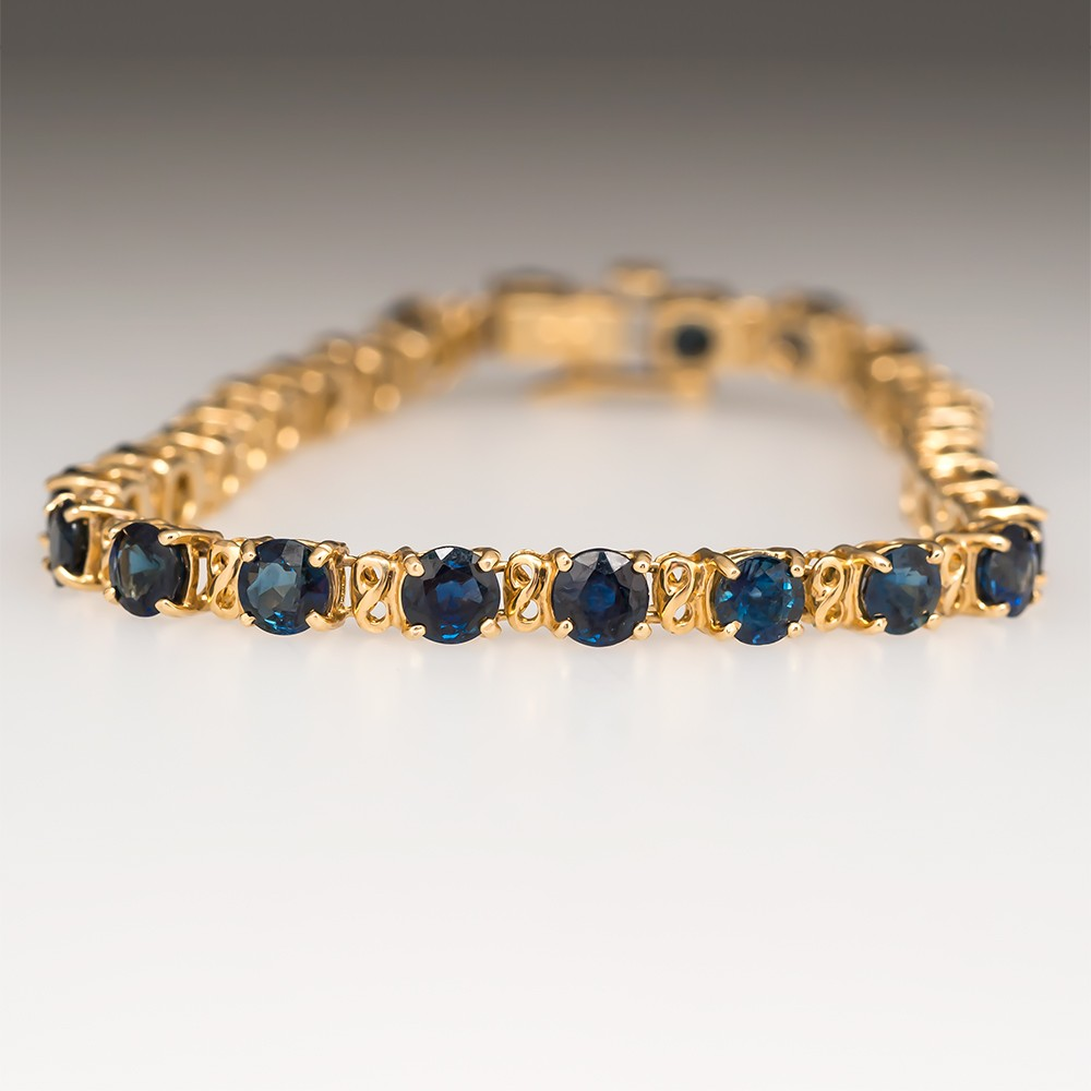 collection style sapphire in gold line to click diamond bracelet product yellow zoom jewelry riviera