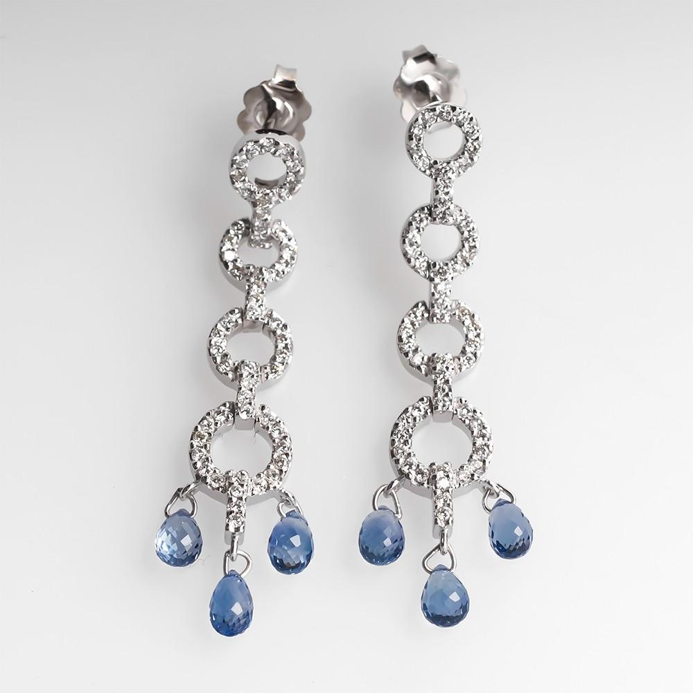 Sapphire Briolette Earrings