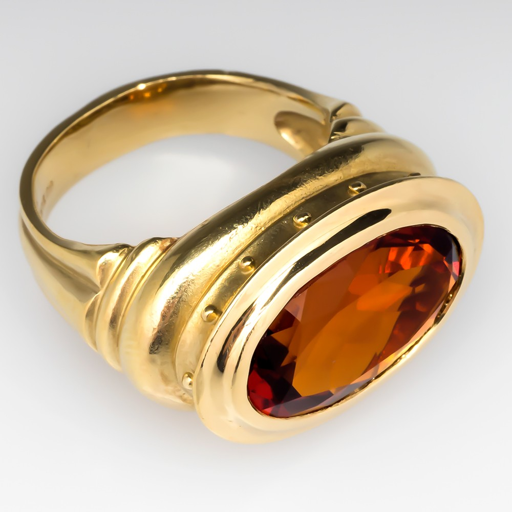 Seidengang Citrine Cocktail Ring