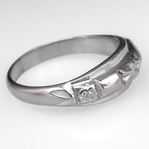 Asian Platinum Wedding Band Ring