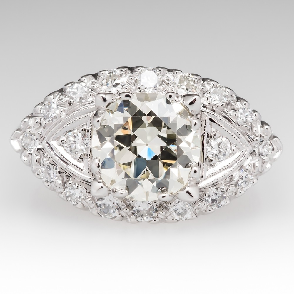Transitional Cut Diamond Ring