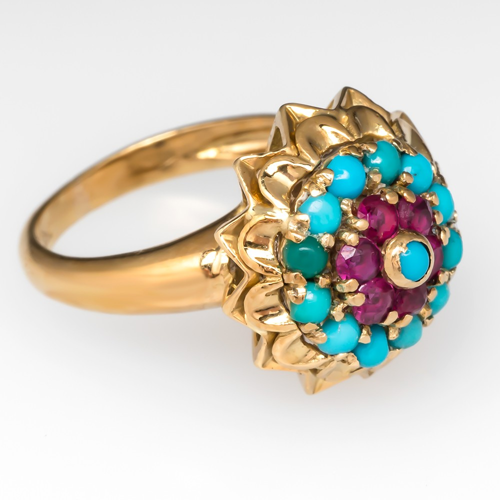 Vintage Turquoise Princess Ring
