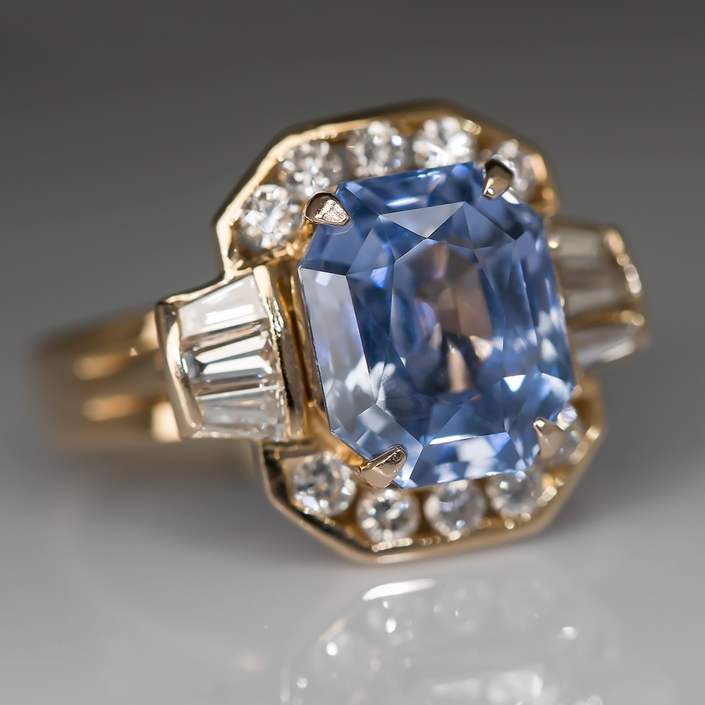 antiques deco pr ring with natural art unheated sapphire circa ceylon and vaughan diamond product a certificate