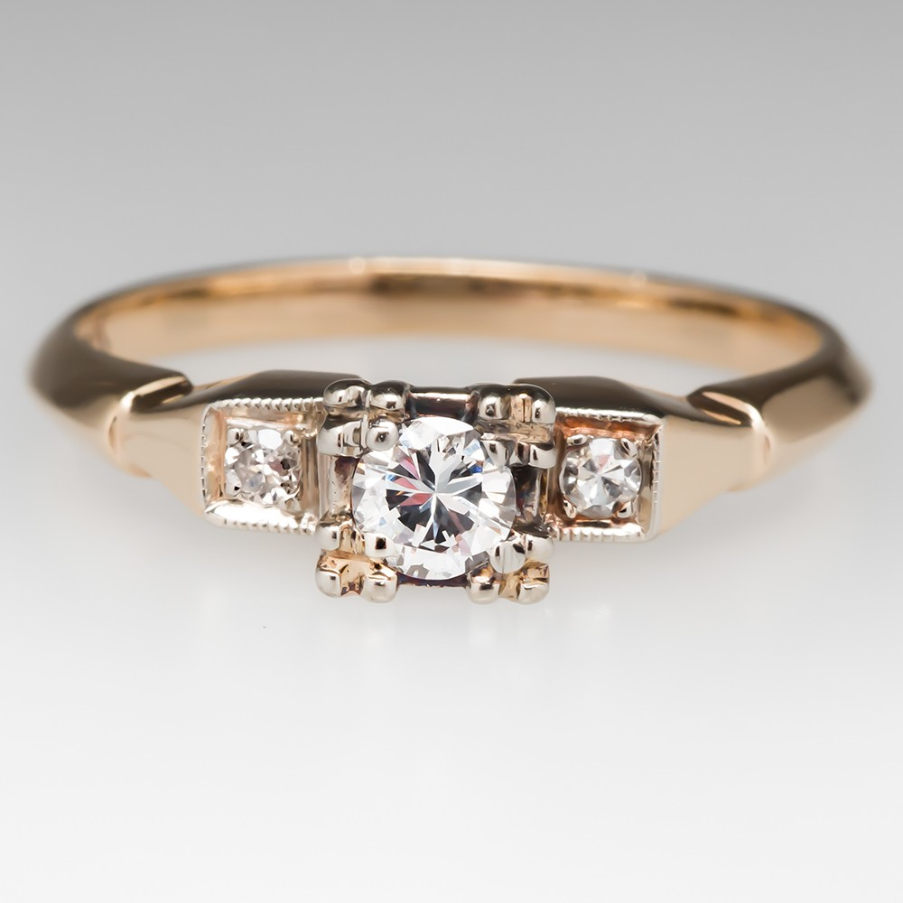 Retro 1950's Diamond Engagement Ring