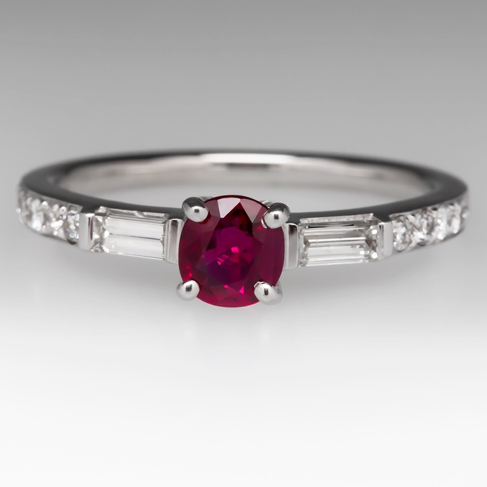 1/2 Carat Ruby Diamond Wedding Ring