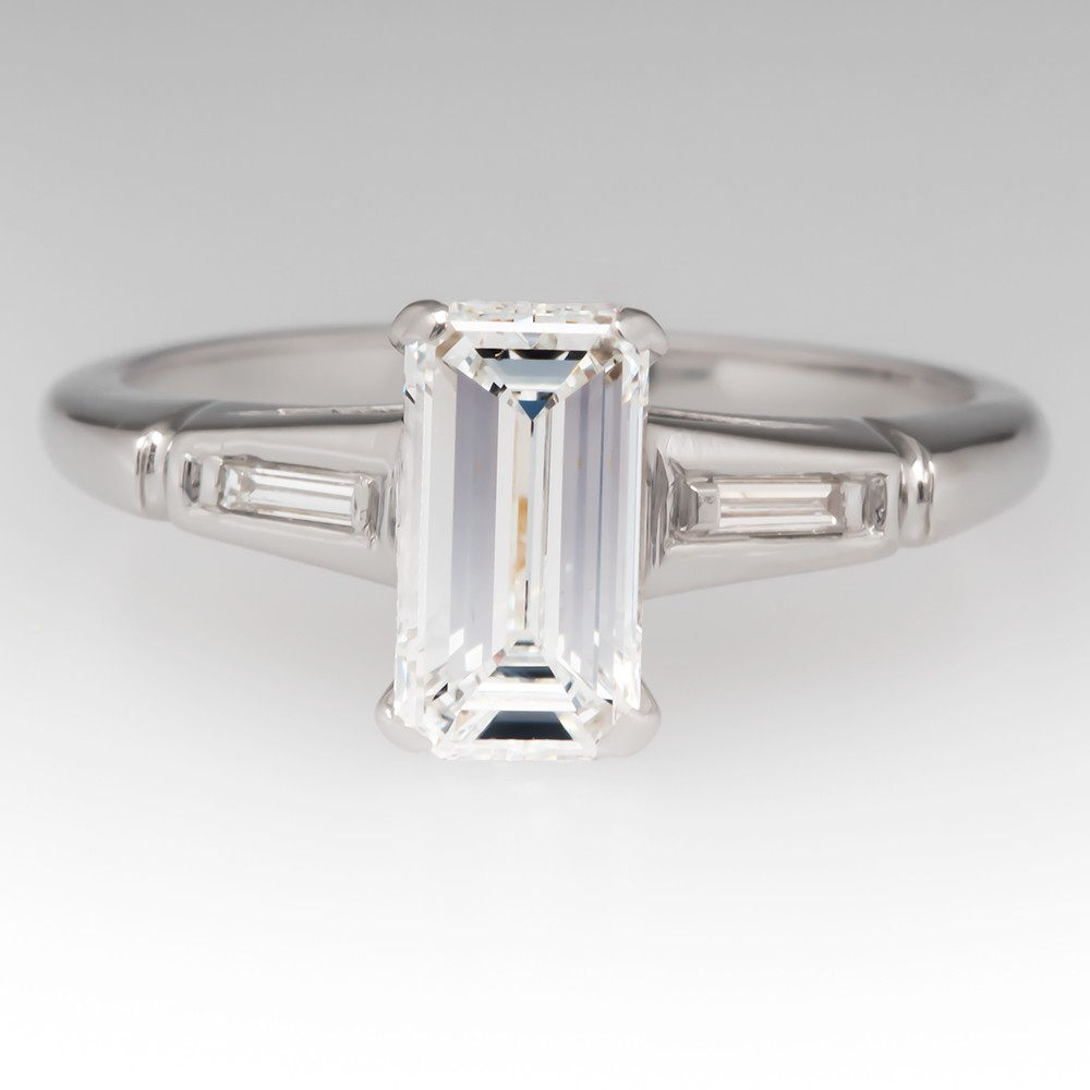 Emerald Cut Diamond 1950 S Vintage Seattle Engagement Ring