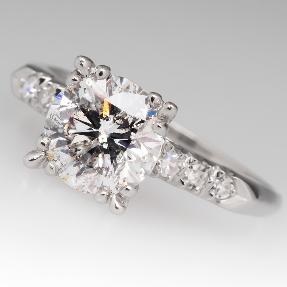 Timeless 2 Carat Diamond Vintage Engagement Ring 1950's