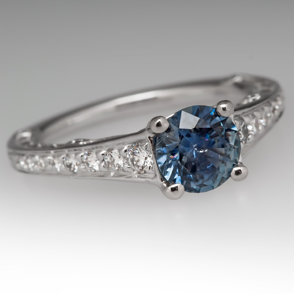 Ritani Engagement Ring 1 Carat Montana Sapphire 18K