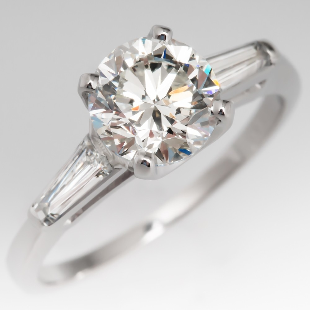 1.2 Carat Round Brilliant Diamond Vintage Timeless Engagement Ring