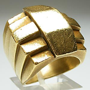 Kieselstein Cord Geometric Mens Ring