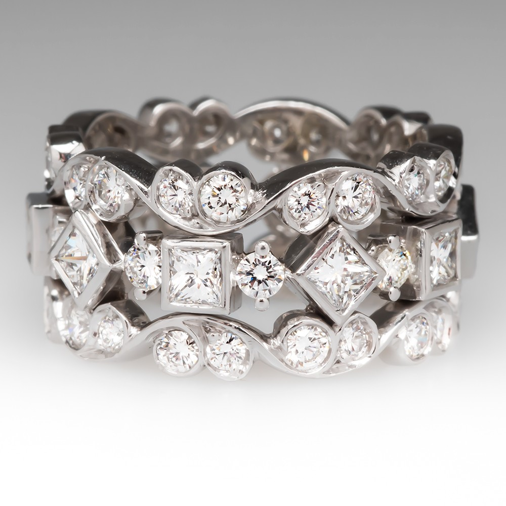 wide carat diamond band tina cluster paved ring cocktail products eternity silver faux silvertone cubic zirconia beloved sparkles bands statement cz