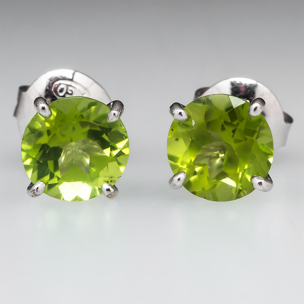 Peridot Martini Stud Earrings