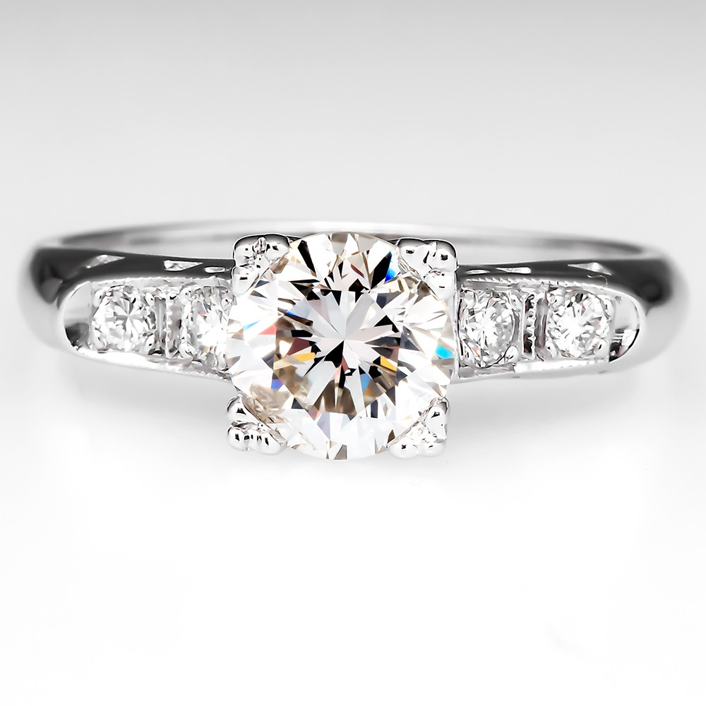 Classic Vintage Diamond Engagement Ring