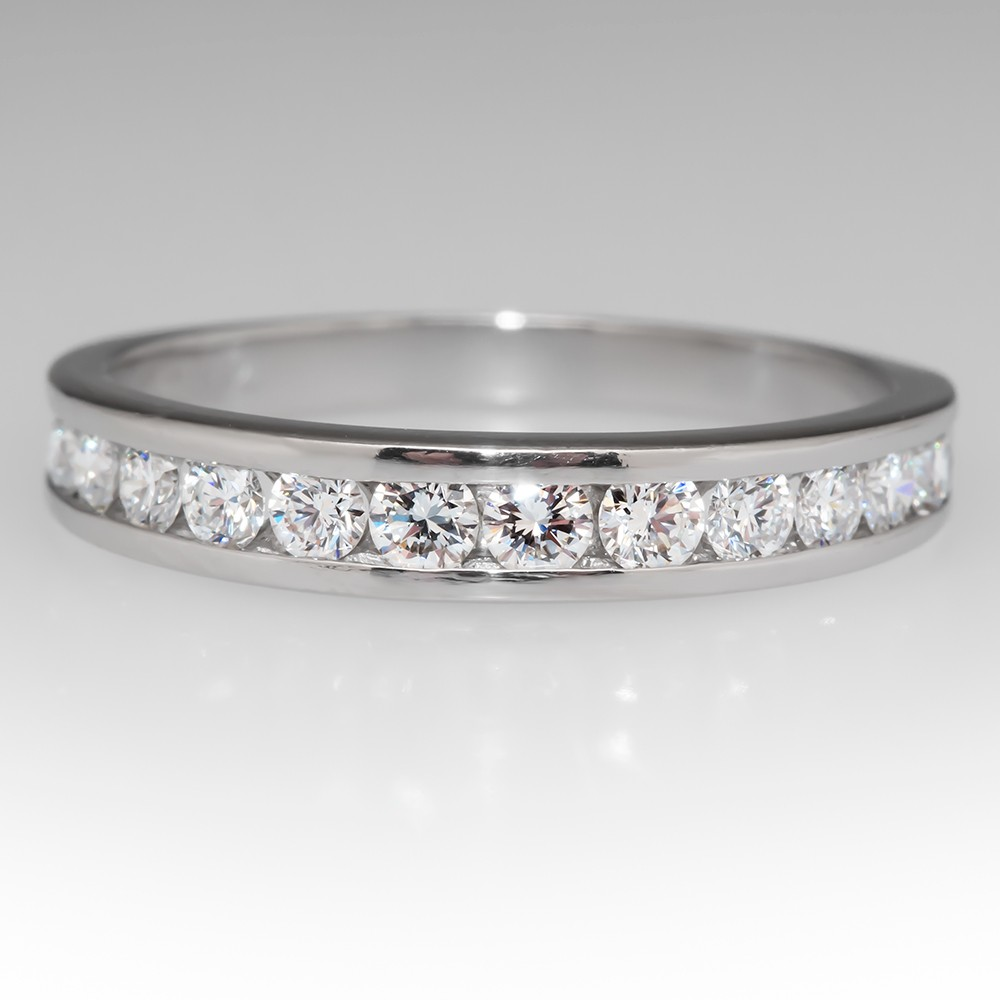 1/2 Carat Round Brilliant Diamond Channel Set Wedding Band