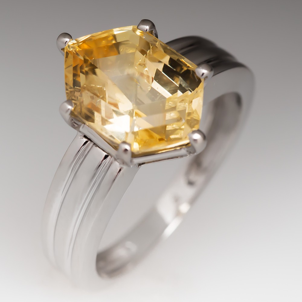Yellow Sapphire Cocktail Ring