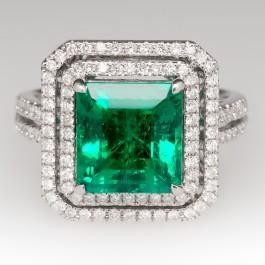 3 6 Carat Emerald Ring 18k Gold Eragem Estate Jewelry