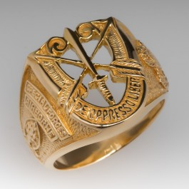 Airborne Special Forces Mens Ring 18k Yellow Gold