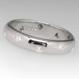 Tiffany Amp Co Etoile Diamond Wedding Band Platinum 4mm Size 6
