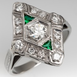 Antique Jewelry Art Deco Diamond North South Ring 1930's