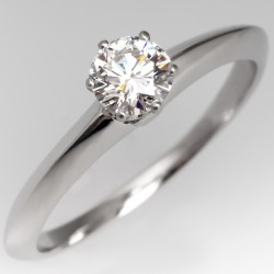 .43 H/VS2 Tiffany & Co Diamond Solitaire Engagement Ring Platinum