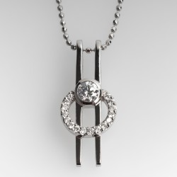 La Verité Diamond Pendant Necklace Platinum & 18K
