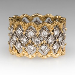 Buccellati Eternelle Openwork Ring 1CTW Diamonds