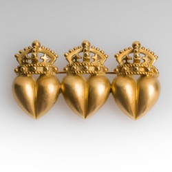 1987 Barry Kieselstein-Cord Crowns Pin 18K Gold