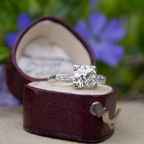 Timeless Vintage Engagement Ring 1.5 Carat Old European Cut Diamond