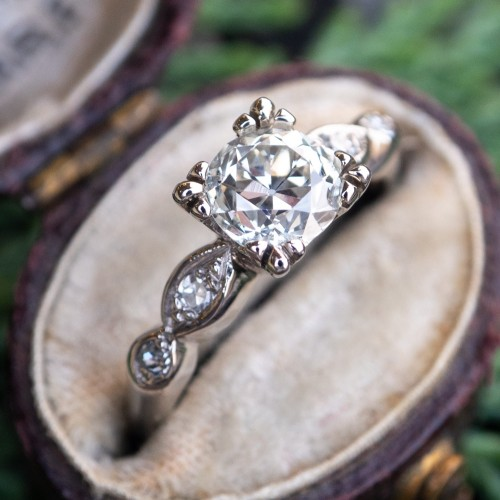 Antique Engagement Ring Old European Cut Diamond Detailed
