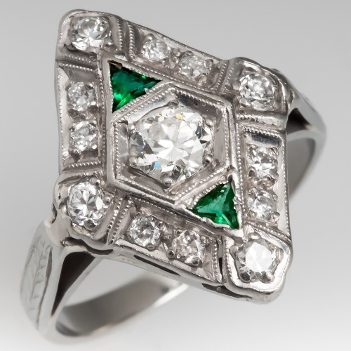 020c26d2a Antique Jewelry Art Deco Diamond North South Ring 1930's