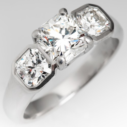 Tiffany Lucida Three Stone Diamond Engagement Ring