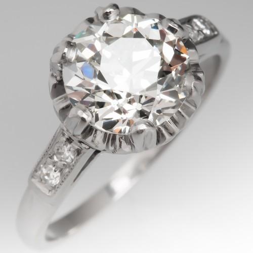 Edwardian Buttercup Old European Cut Diamond Engagement Ring 1920's