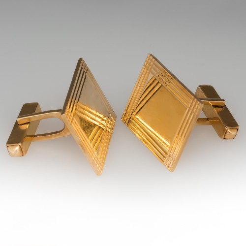 Men's Vintage 14k Gold Cufflinks