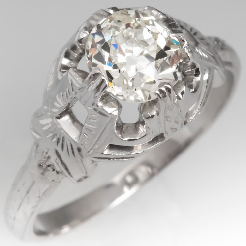 Belais Bros 1920's Antique Diamond Solitaire Engagement Ring