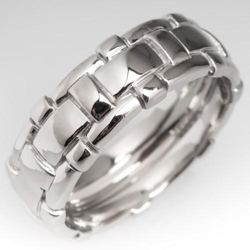 Scott Kay Mens Weave Motif Wedding Band Platinum size 11