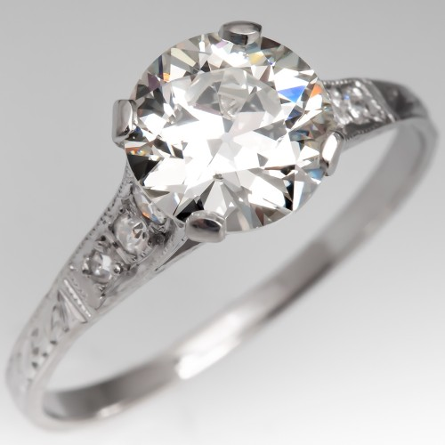 GIA 1.3 Carat Transitional Cut Diamond Engagement Ring