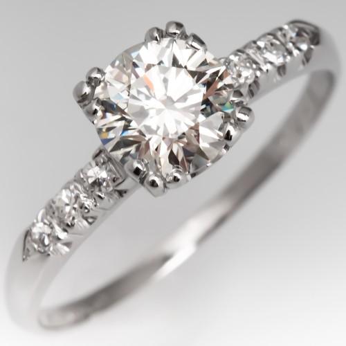 Classic Vintage Diamond Engagement Ring Platinum