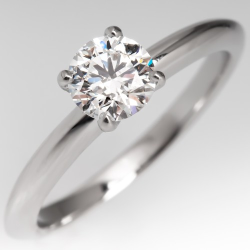 Tiffany & Co Solitaire Diamond Engagement Ring 4-Prong G/VVS2