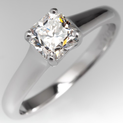 Tiffany & Co Lucida Cut Diamond Engagement Ring Solitaire