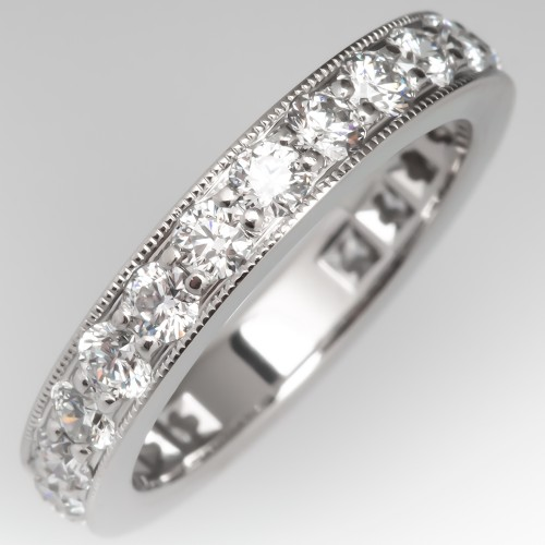 Tiffany Legacy Collection Band Ring Diamond Eternity, Size 5
