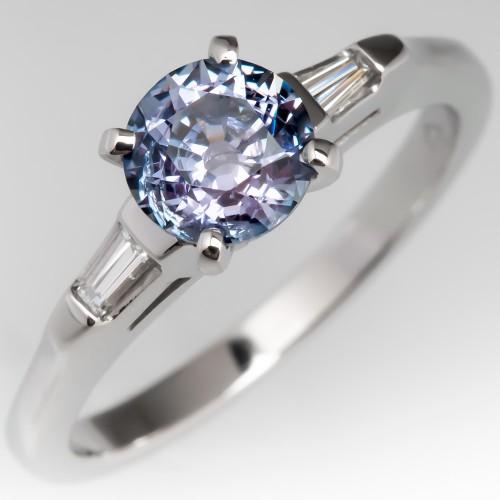 No Heat Color Change Montana Sapphire Engagement Ring
