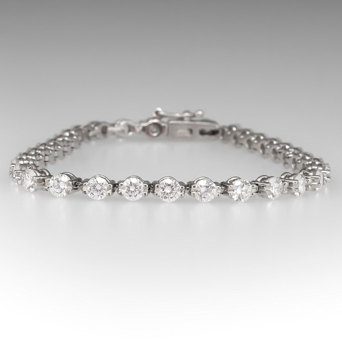 Stunning 4.7 Total Carat Diamond Tennis Bracelet Platinum