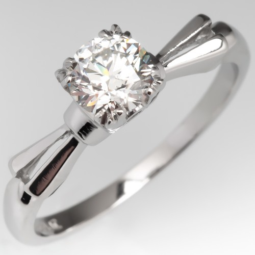 .62 F/SI1 Transitional Cut Diamond Solitaire Engagement Ring
