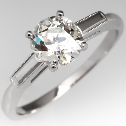 Old European Cut Diamond Vintage Engagement Ring w/ Milgrain Accenting