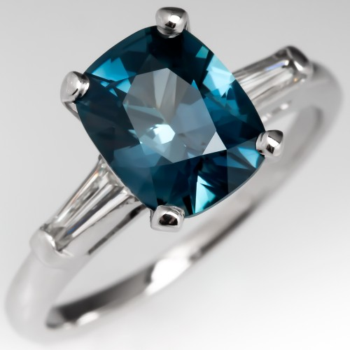 No Heat Color Change Sapphire Engagement Ring Green to Blue