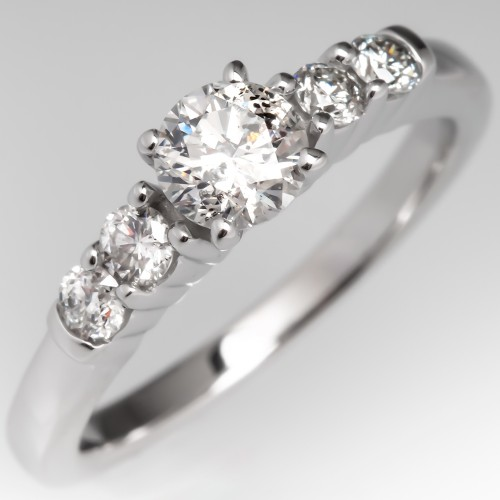 For Abbigail - Round Brilliant Diamond Engagement Ring w/ Accents 14K